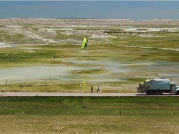 A Snowball in the Face, and a Kite on the Side of the Road.. - Kitesurfing News